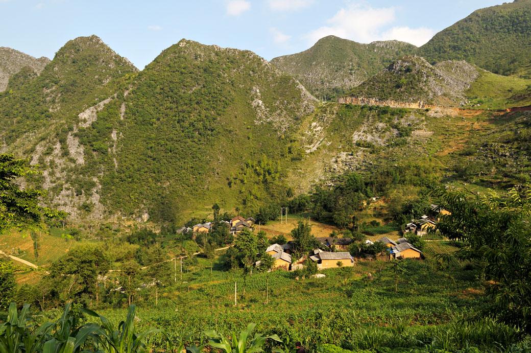 Village de montagne dans la province de Hà Giang, Vietnam