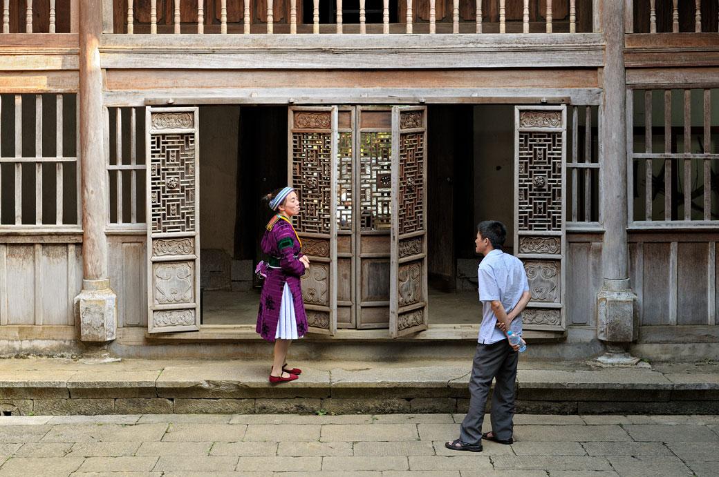 Dans le Palais de l'ancien roi des Hmongs, Vietnam