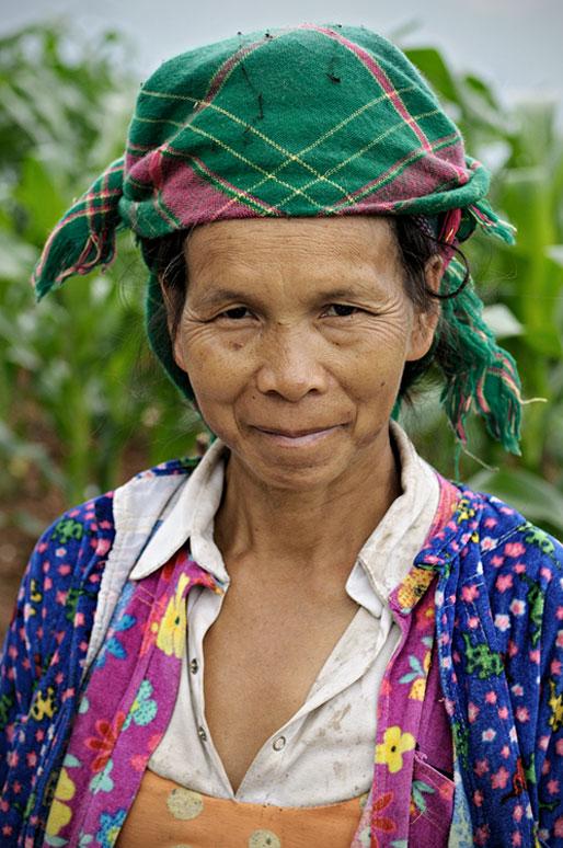 Femme Hmong dans la province de Hà Giang, Vietnam
