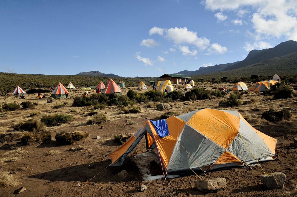 Campement Shira 1 sur le Kilimandjaro, Tanzanie