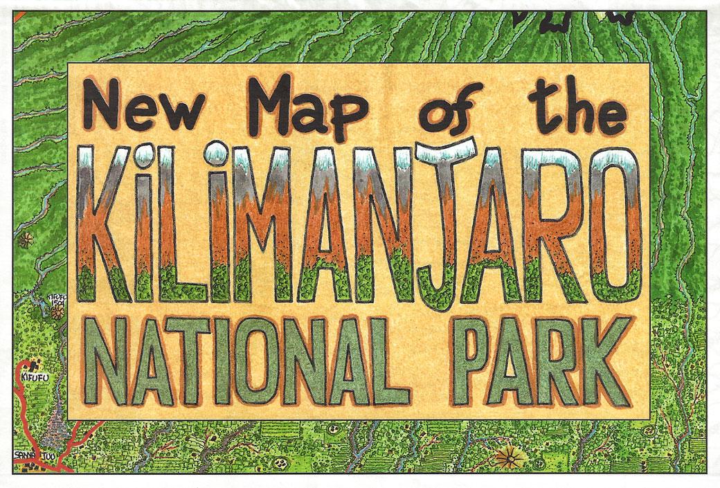 Nouvelle carte du Kilimandjaro, Tanzanie