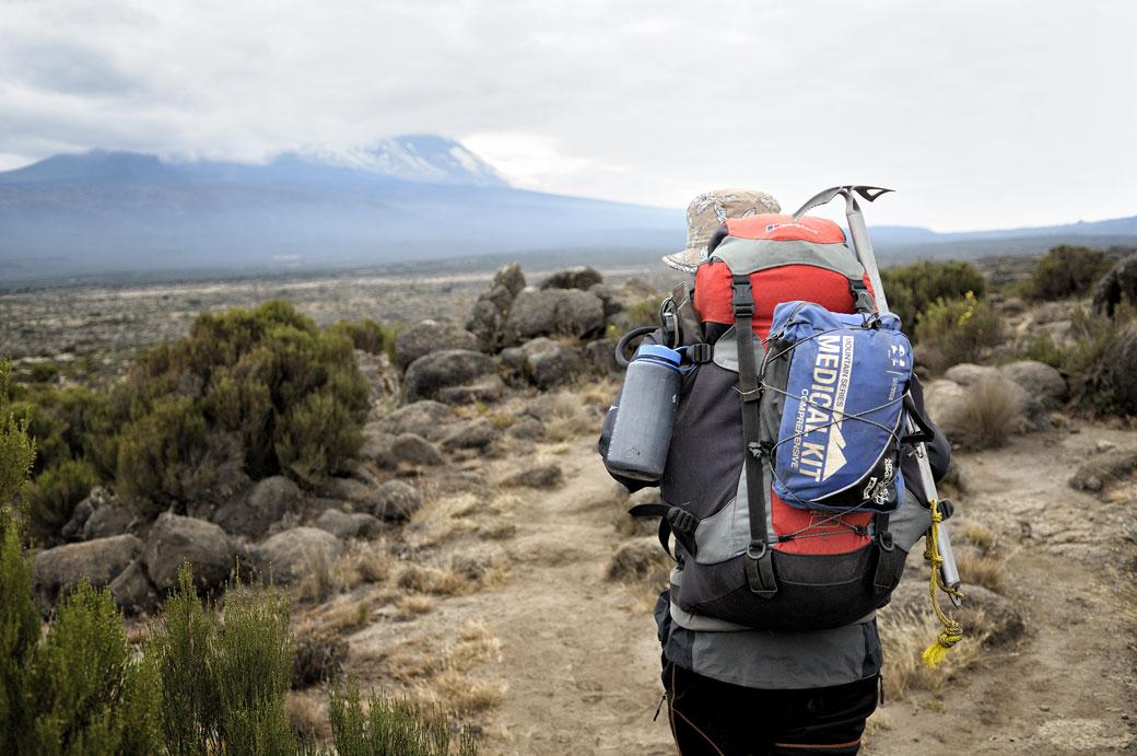 Suivre le guide sur le plateau de Shira, Tanzanie