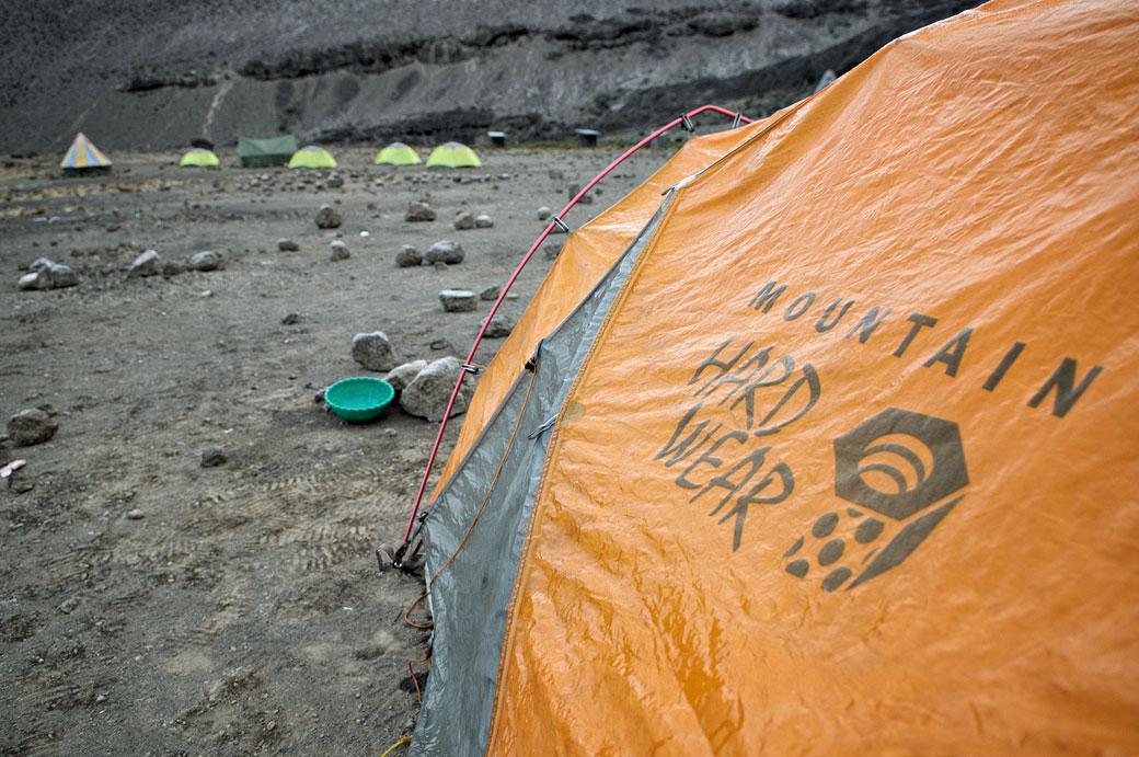 Ma tente au camp de Moir Hut au petit matin, Tanzanie