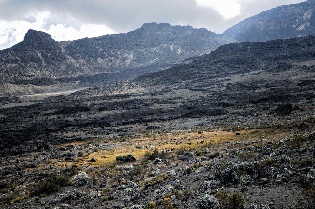 Paysage volcanique au-dessus de Moir Hut, Tanzanie