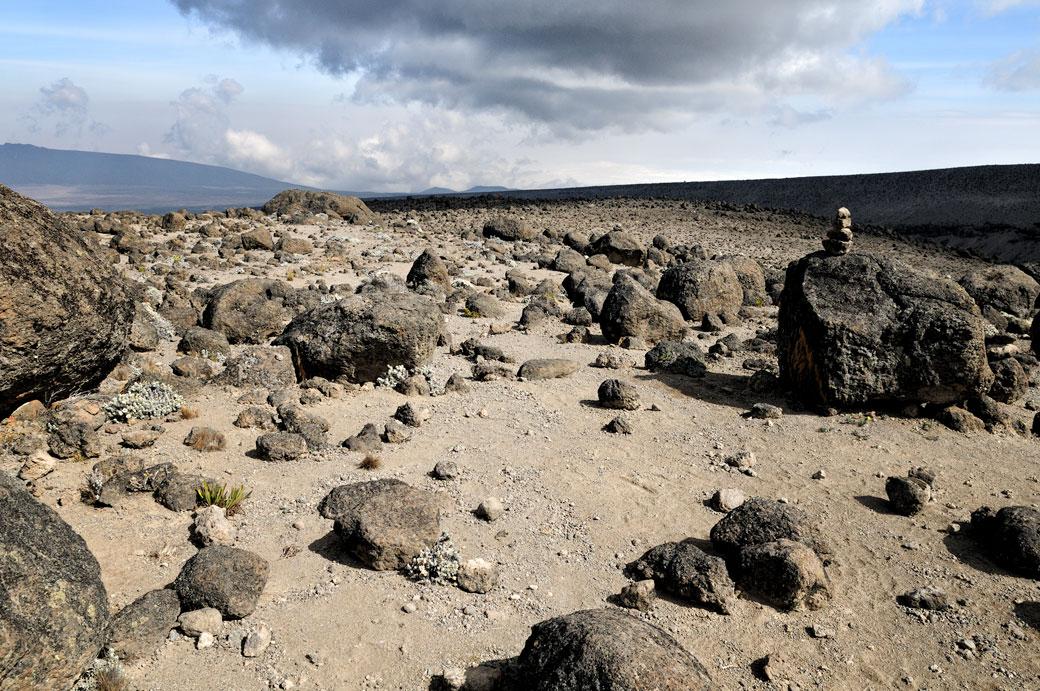 Roche volcanique sur le Kilimandjaro, Tanzanie