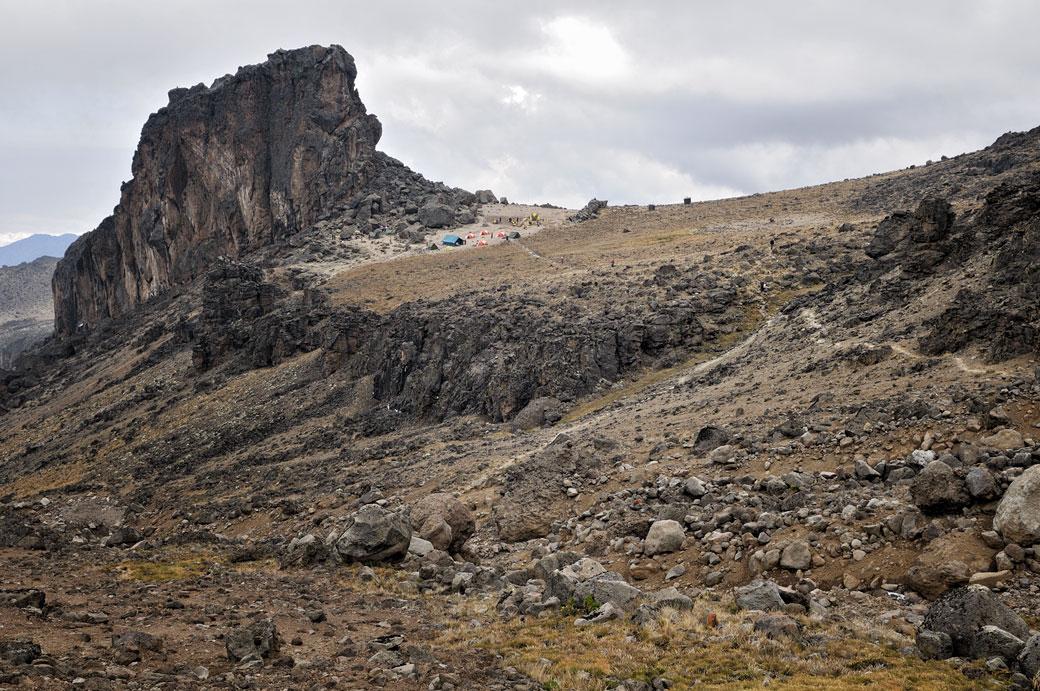 Paysage volcanique près de Lava Tower Camp sur le Kilimandjaro, Tanzanie