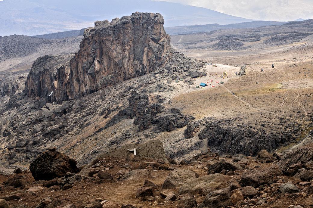 Au-dessus de Lava Tower Camp sur le Kilimandjaro, Tanzanie