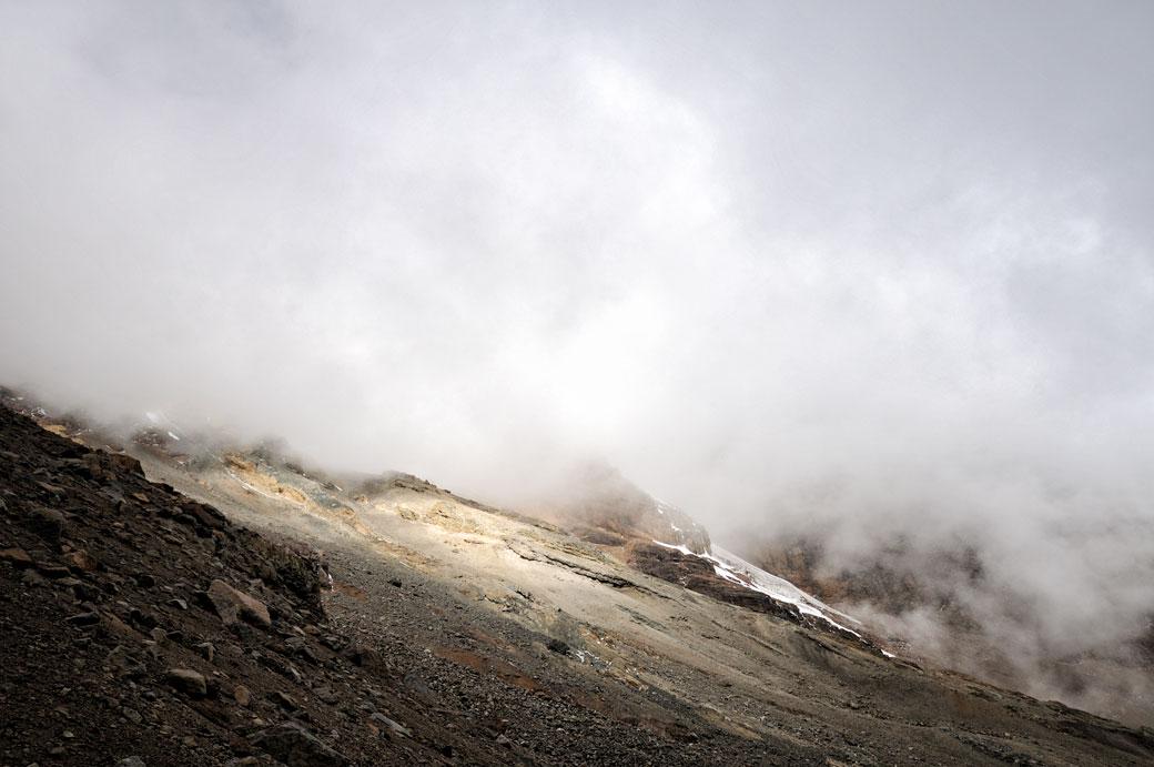 Nuages sur les pentes du Kilimandjaro, Tanzanie