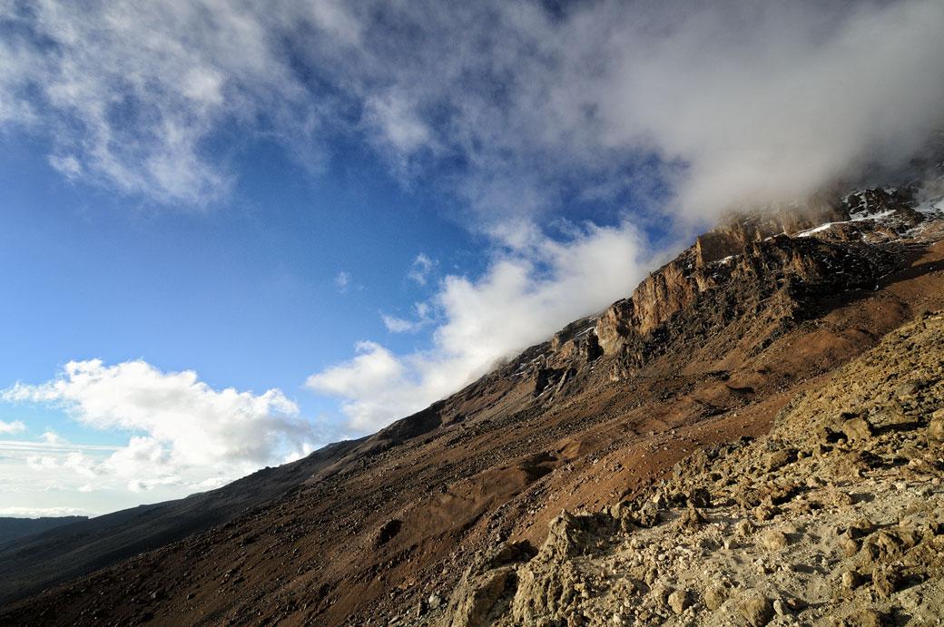 Les pentes du Kilimandjaro en fin de d'après-midi, Tanzanie
