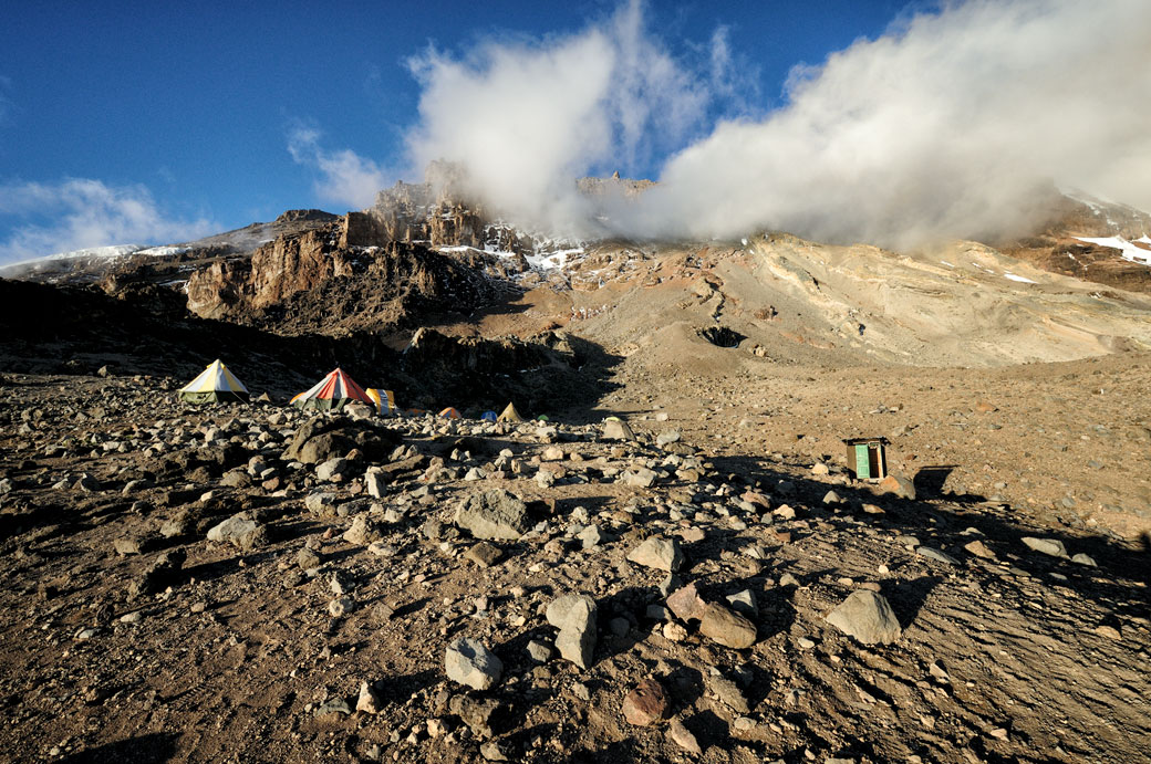 Arrow Glacier Camp et la Western Breach sur le Kilimandjaro, Tanzanie