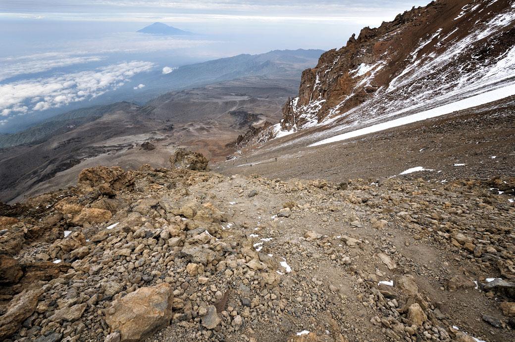 Western Breach et Mont Méru sur le Kilimandjaro, Tanzanie