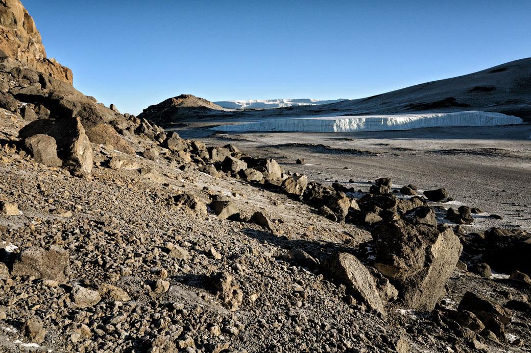 Glacier Furtwängler et champ de glace Nord sur le Kilimandjaro