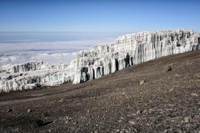 Champ de glace Sud sur le Kilimandjaro, Tanzanie