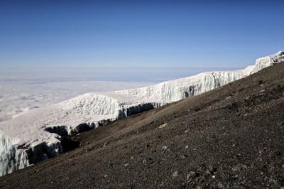 Champ de glace Sud près du sommet du Kilimandjaro, Tanzanie