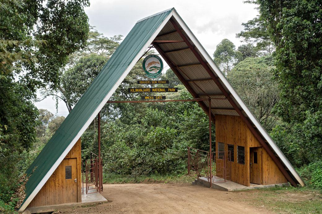 Mweka gate du parc national du Kilimandjaro, Tanzanie