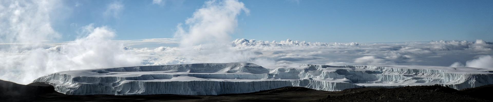 Top image champ de glace Nord Kilimandjaro