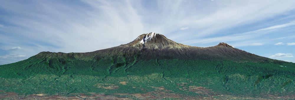 Volcans Shira - Kibo - Mawenzi, massif du Kilimandjaro