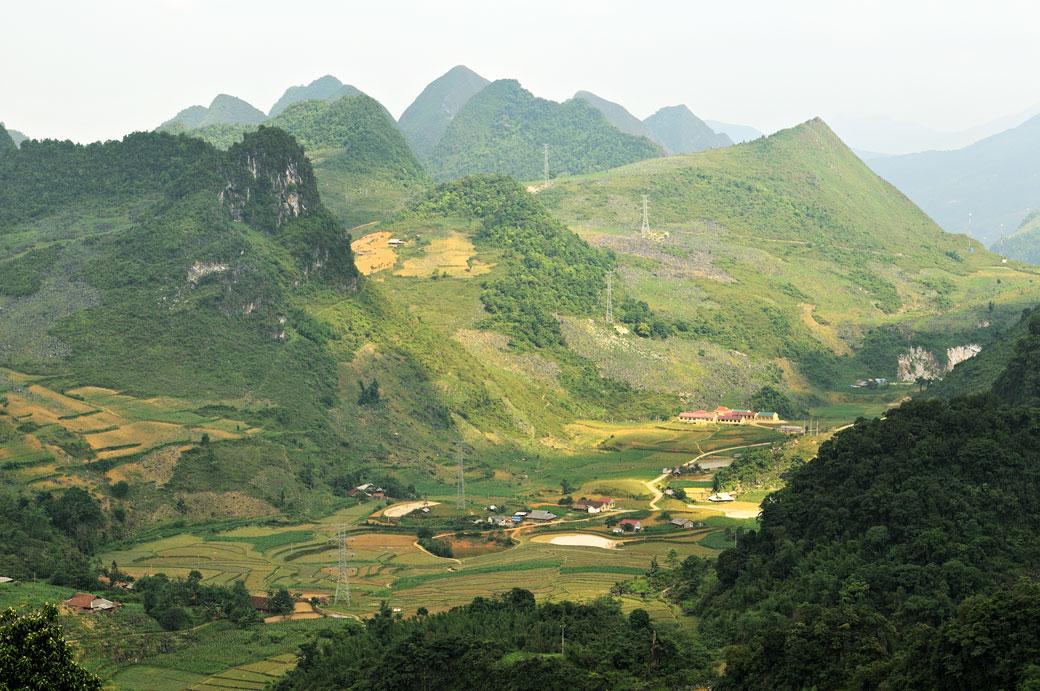 Région montagneuse au nord du pays, Vietnam