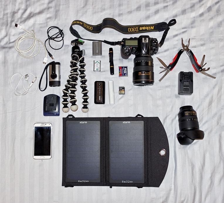 Équipement geek emmené au Kilimandjaro