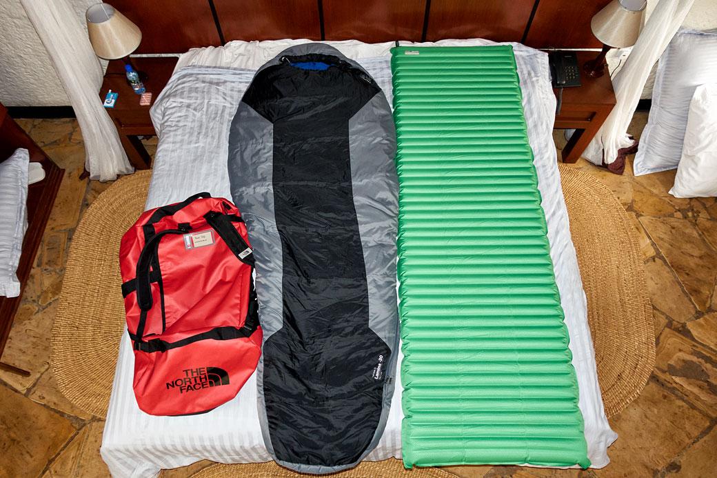 Sac de couchage - matelas - duffel pour le Kilimandjaro