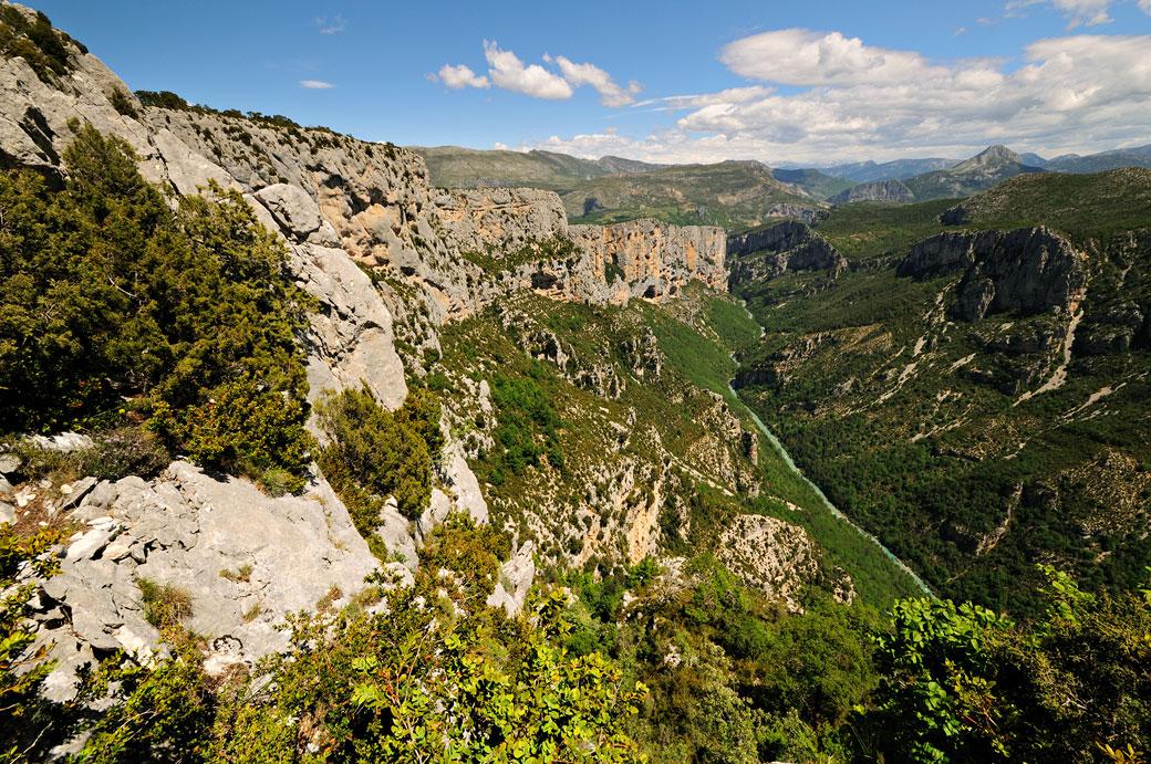 Falaises des Gorges du Verdon du belvédère de la Dent d'Aire, France