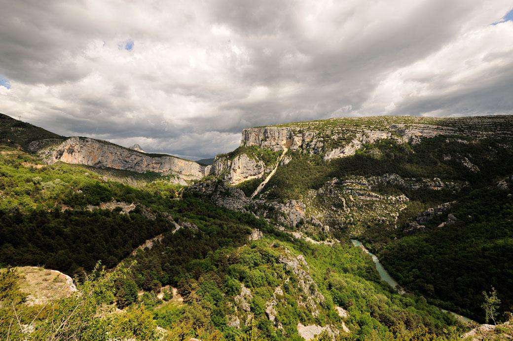 Nuages sur les Gorges du Verdon au Point Sublime, France