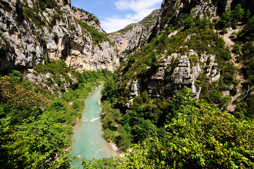 Au cœur des Gorges du Verdon sur le sentier de l'Imbut, France