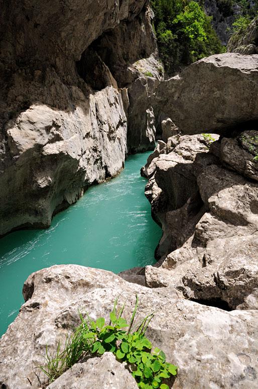 Le mini canyon du Styx dans les Gorges du Verdon, France
