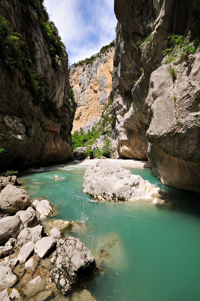 Au cœur du canyon des Gorges du Verdon, France