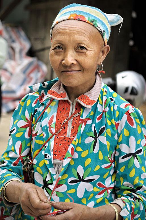 Femme d'une minorité ethnique du nord du pays, Vietnam