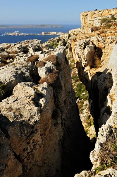 Falaises au nord de l'île sur la Péninsule de Marfa, Malte