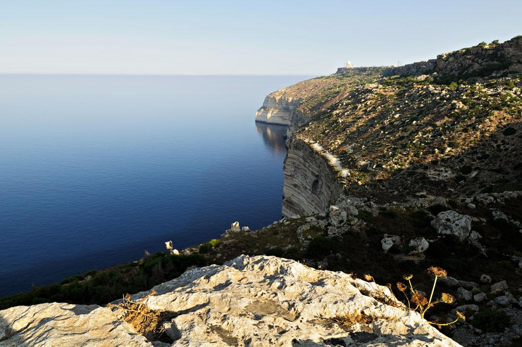Les falaises de Dingli au petit matin, Malte