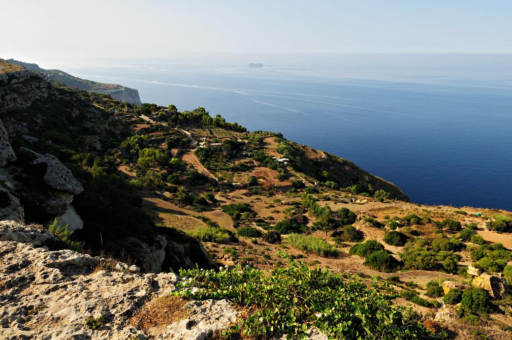 Point culminant de l'île aux falaises de Dingli, Malte