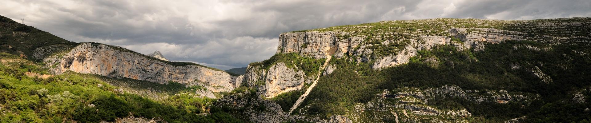 Top image Gorges du Verdon au Point Sublime