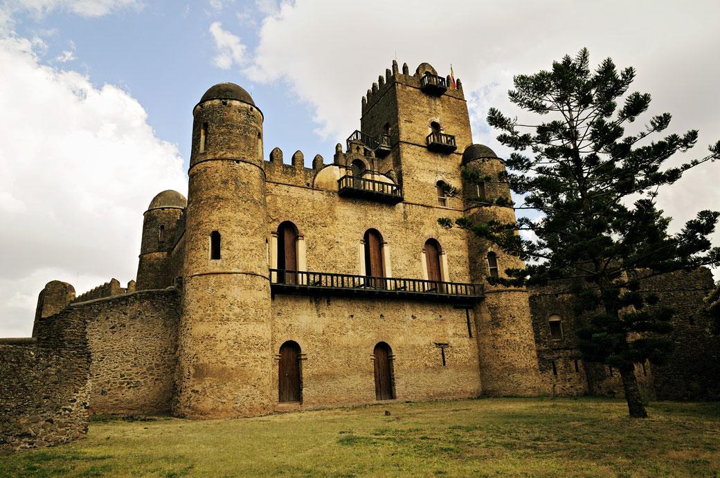 Palais de Fasiladas dans l'enceinte de Fasil Ghebi à Gondar, Ethiopie