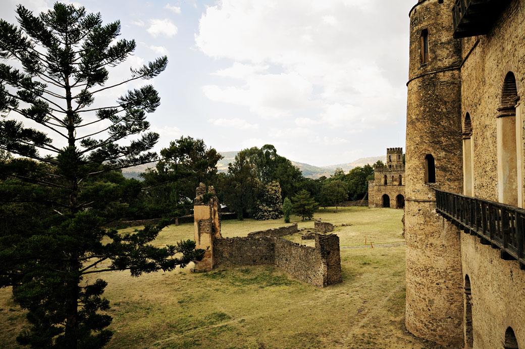 Ville fortifiée de Fasil Ghebi à Gondar, Ethiopie