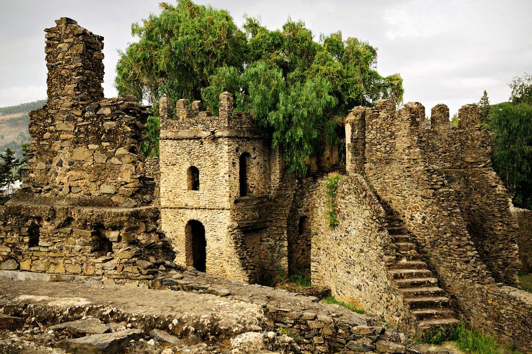 Ruines dans l'enceinte de Fasil Ghebi à Gondar, Ethiopie