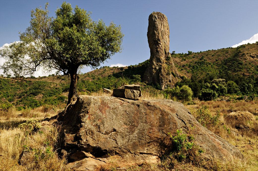 Le doigt de Dieu dans la région de Gondar, Ethiopie