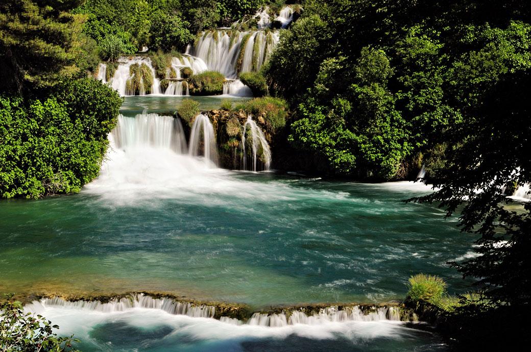 Chutes de la rivière Krka à Skradinski Buk, Croatie