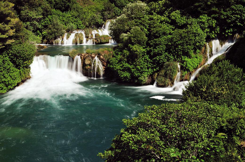 Série de chutes de la rivière Krka à Skradinski Buk, Croatie