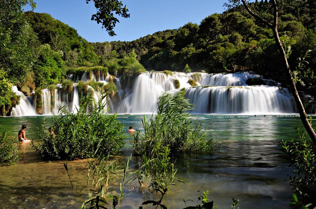 Les chutes de la rivière Krka à Skradinski Buk, Croatie
