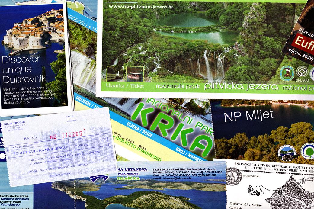 Brochures touristiques, Croatie