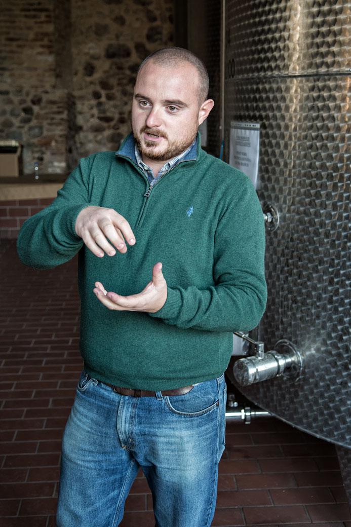 Visite de l'établissement vinicole Marchese Adorno, Italie
