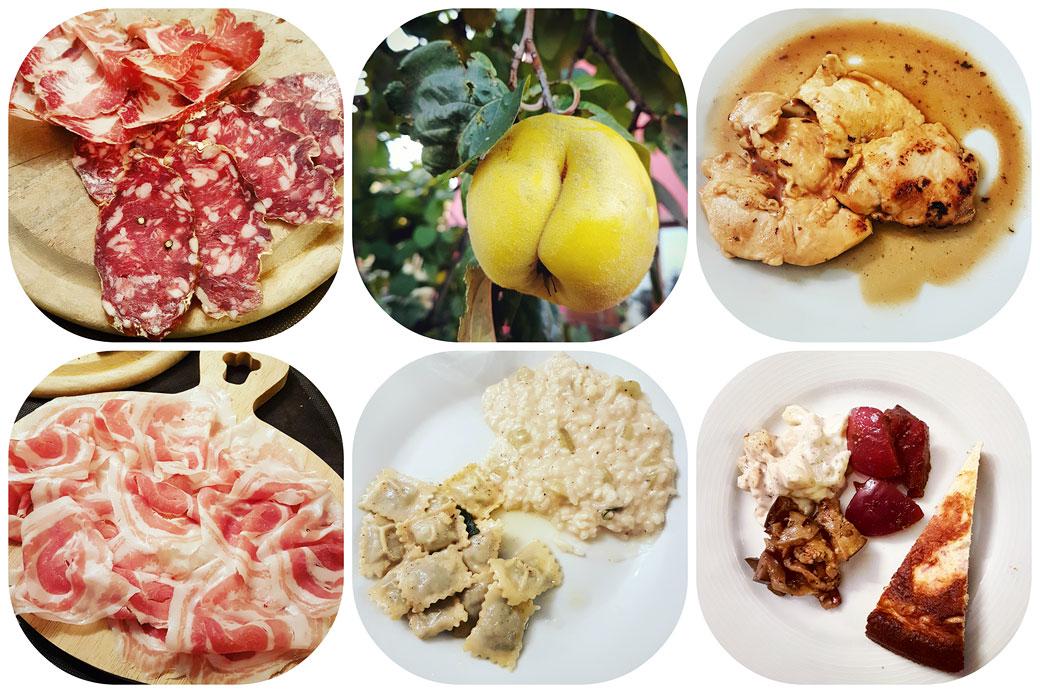 Repas au Ca' de Figo à Varzi dans l'Oltrepò pavese, Italie