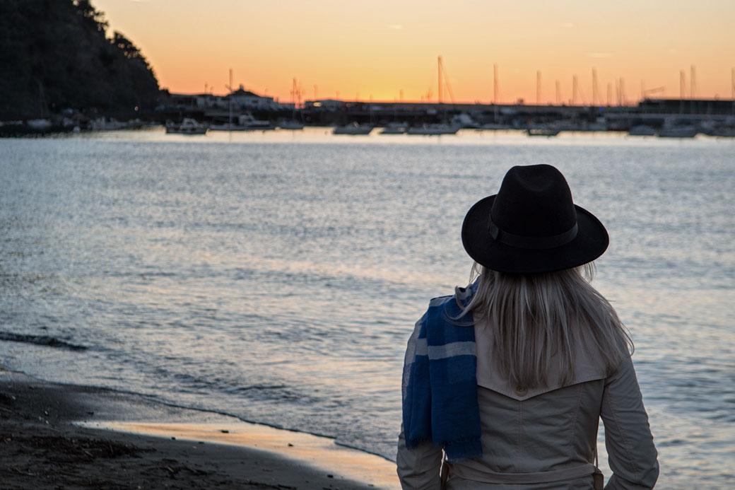 Coucher de soleil à Sestri Levante, Italie