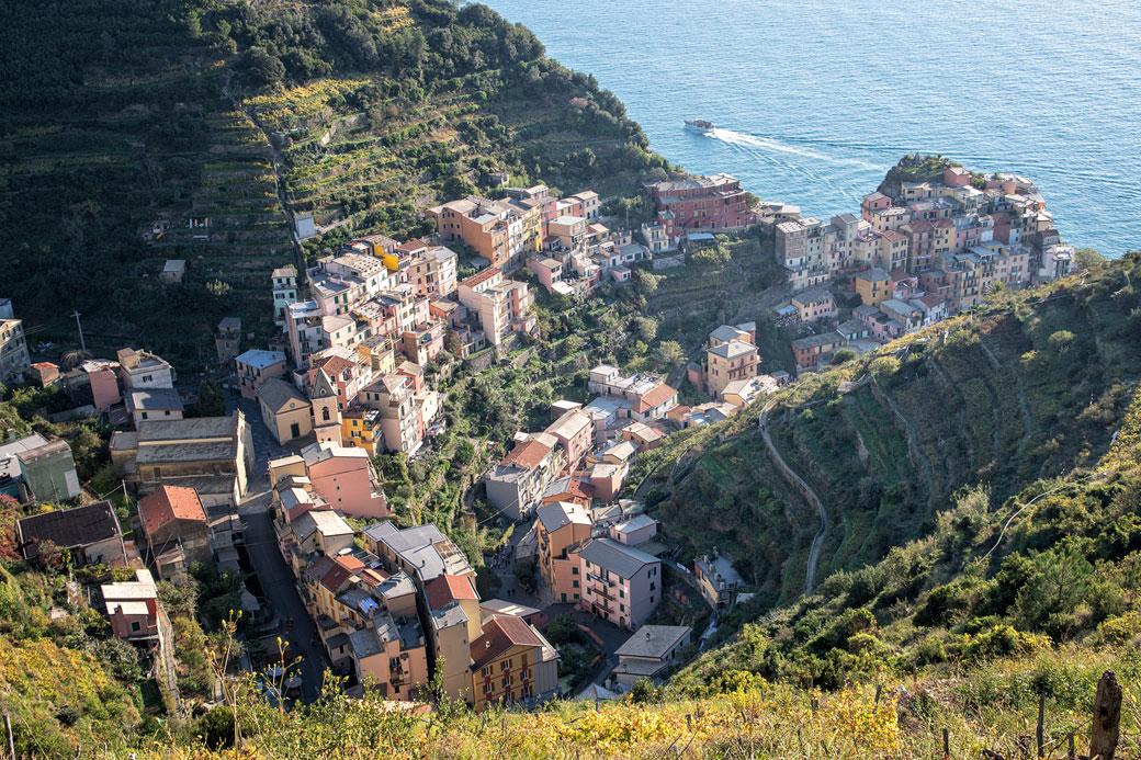 Le village de Manarola dans les Cinque Terre, Italie