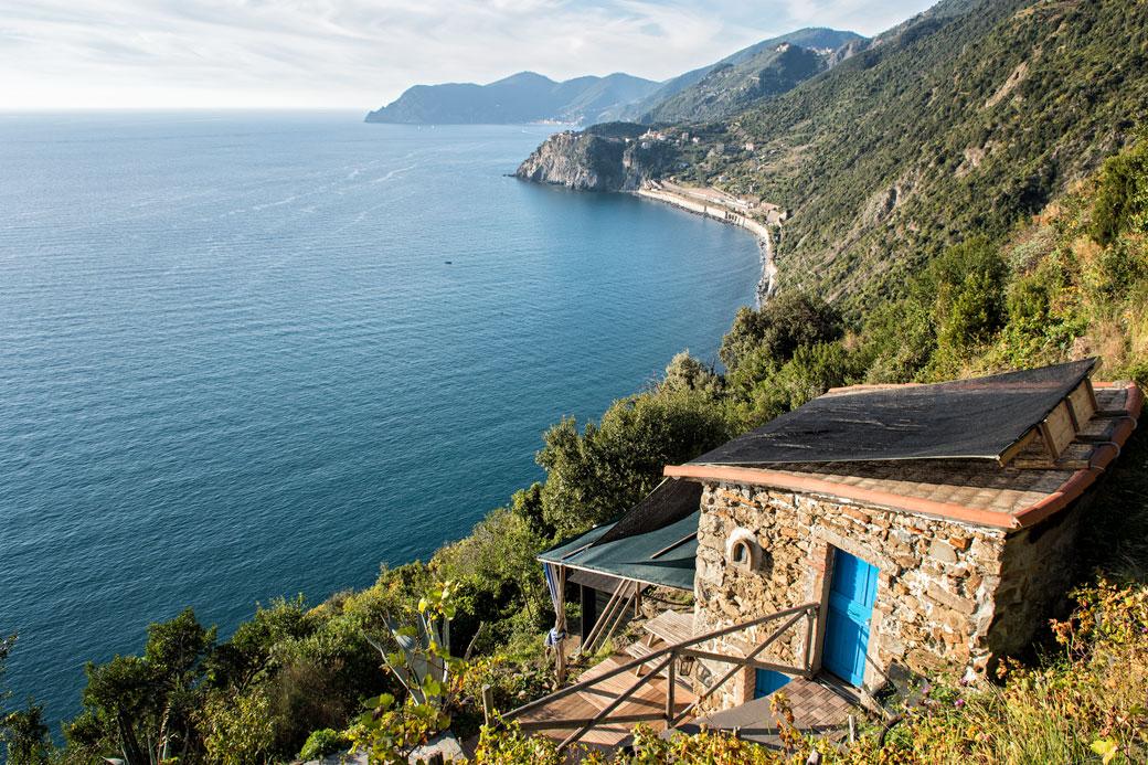 Belle vue sur la côte Ligure des Cinque Terre, Italie