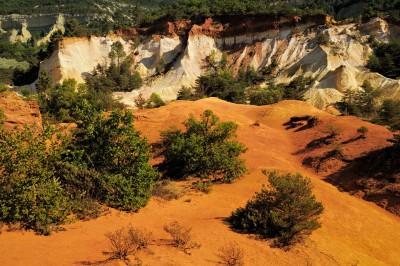 Le Sahara du Colorado Provençal de Rustrel, France