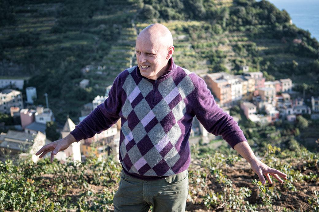 Un habitant de Manarola nous parle de sa terre avec passion, Italie