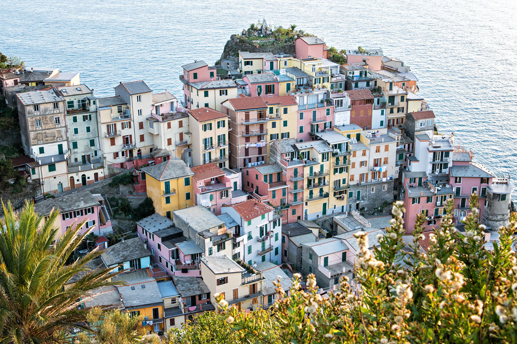 Sur les hauteurs de Manarola dans les Cinque Terre, Italie